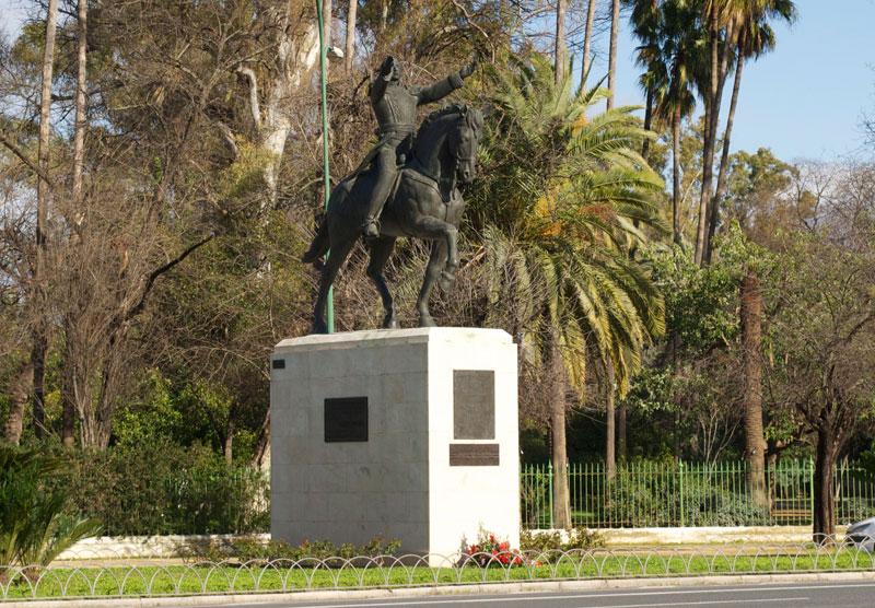 Estatua Ecuestre de Simón Bolivar. Único rastro de la delegación venezolana en 1929