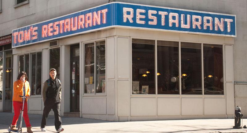 fachada del bar sel sitcom Seinfeld