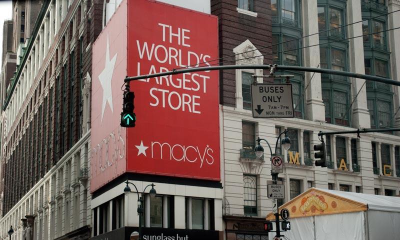 esquina del edificio de Macy's