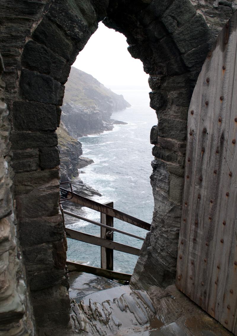 Vista desde la puerta del Castillo de Tintagel