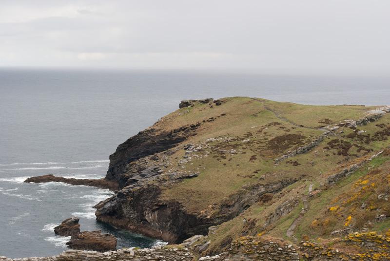 Mar imponente desde Tintagel