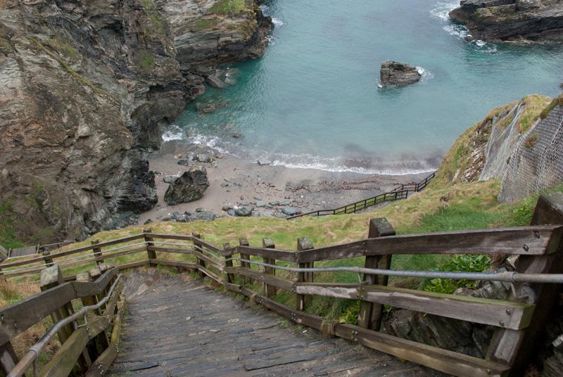 Las interminables escaleras del Castillo de Tintagel
