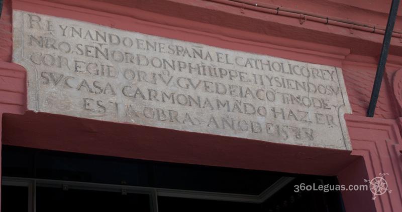 la placa de Felipe II