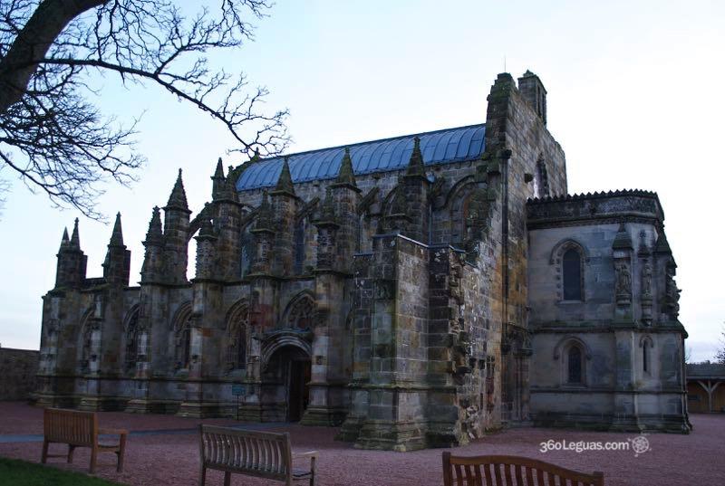 La capilla de Rosslyn al atardecer